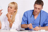 Doctor and nurse at office — Stock Photo
