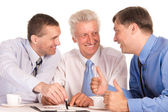 Three nice businessmen — Stock Photo