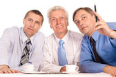 Three cute businessmen — Stock Photo