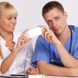 Doctors at table — Stock Photo