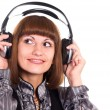 Woman with headphones - Foto Stock