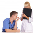 Cute two doctors — Stock Photo #7186840