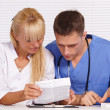 Doctor and nurse at office — Stock Photo #7186948