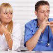 Doctor and nurse at office — Stock Photo #7186949