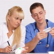 Doctors at table — Stock Photo #7186959