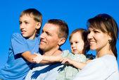 四个家庭 — 图库照片