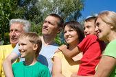 Aile, doğa — Stok fotoğraf