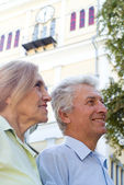 Old couple nice portrait — Stock Photo