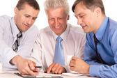 Three businessmen portrait — Stock Photo