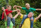Avós e crianças — Fotografia Stock