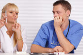 Doctor and nurse at office — Стоковое фото
