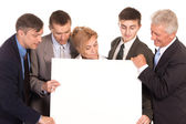 Team with board — Stock Photo