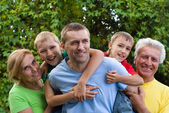 Family of a five — Stock Photo