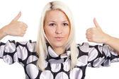 Smart blonde portrait — Stock Photo