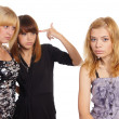 Three young girls — Stock Photo