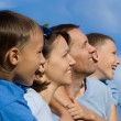 Family on sky — Stock Photo #7254999