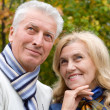 Old couple outdoors — Stockfoto