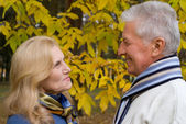 Couple at nature — Stock Photo