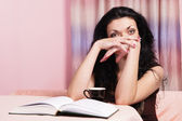 Nice girl reading — Stock Photo