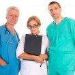 Three doctors portrait — Stock Photo