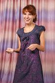 Cute girl in dress — Stock Photo