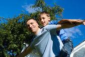 爸爸和他的儿子 — 图库照片