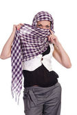 Woman with scarf — Stock Photo