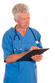 Doc with list — Stock Photo