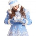 Cute snow maiden portrait — Stock Photo #7348164