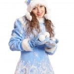 Cute snow maiden portrait — Stock Photo #7348179