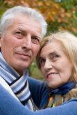 在自然对老年夫妇 — 图库照片