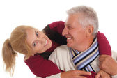 Elderly couple posing — Stock Photo