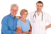 врача и пациентов — Стоковое фото