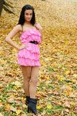 Pretty girl at park — Stock Photo