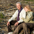 Old couple at roots — Stock Photo #7621091