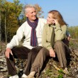 Old couple at roots — Stock Photo #7621106