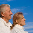 Aged couple at sky — Stock Photo #7621366