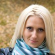 Blonde at park — Stockfoto