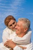 Couple de vieux heureux — Photo