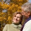 Old couple at the  park — Stock Photo