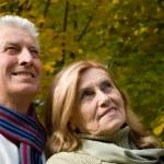 Elderly couple in park — Stock Photo #7666587
