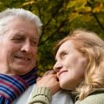 Elderly couple in park — Stock Photo #7666590