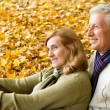 Aged couple in park — Stock Photo #7666606