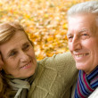 Aged couple in park — Stock Photo #7666607