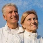 Senior couple at sky — Stock Photo #7666641