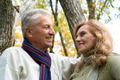 Two aged at nature — Stock Photo