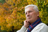 Old man at park — Stock Photo