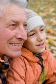 Abuelo e hijo — Foto de Stock