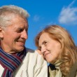 Elderly couple at sky — Stock Photo #7788440