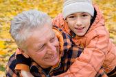 Grandparent and kid — Stock Photo